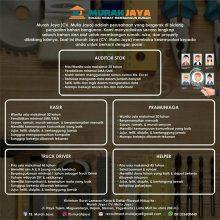 Lowongan Kerja di Murah Jaya (CV. Mulia Jaya) 🖥️🖨️ 1)…