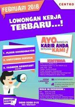 Update Info Lowongan kerja Centro Ambarukmo Plaza Yogyakarta, perusahaan retail…