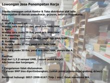 Lowker Rp7 – Kota Yogyakarta Lowongan Jasa Penempatan Kerja Dibuka…